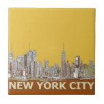 Azafrán del horizonte de Nueva York Tejas Ceramicas