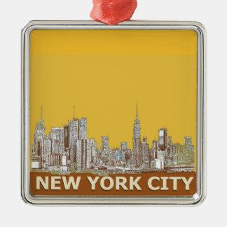 Azafrán del horizonte de Nueva York Adorno De Navidad