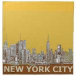 Azafrán del horizonte de Nueva York Servilleta De Papel
