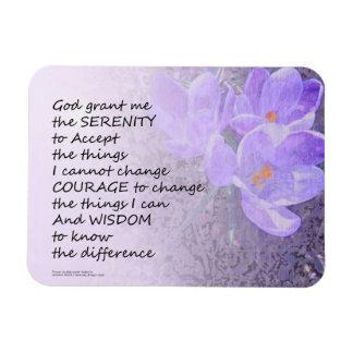 Azafrán del rezo de la serenidad iman rectangular