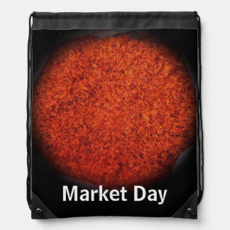 Azafran - día de mercado orgánico mochilas