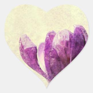 Azafrán Pegatina En Forma De Corazón