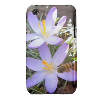 Azafrán púrpura y el caso del iPhone 3 de la abeja Case-Mate iPhone 3 Cárcasa