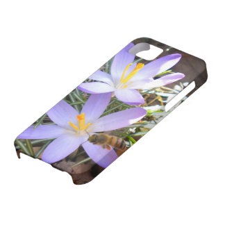 Azafrán púrpura y el caso del iPhone 5 de la abeja Funda Para iPhone SE/5/5s