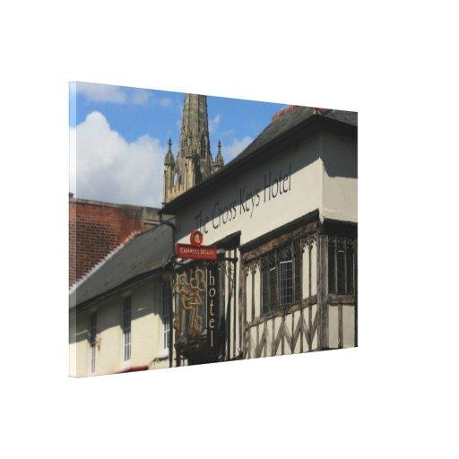 Azafrán Walden, Essex, Reino Unido Lona Envuelta Para Galerías