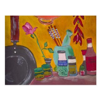 Azafrán y chiles postal