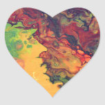 Azafrán y curry pegatina en forma de corazón