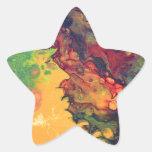 Azafrán y curry pegatina en forma de estrella