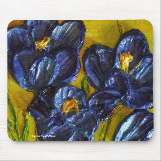 Azafranes azules Mousepad Alfombrillas De Ratones