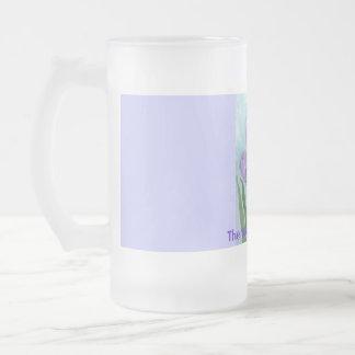 Azafranes de la acuarela taza de cristal