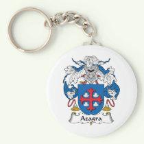 Azagra Family Crest Keychain