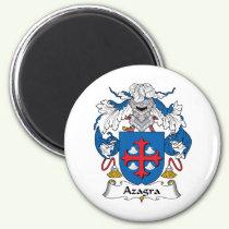 Azagra Family Crest Magnet