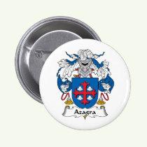 Azagra Family Crest Button