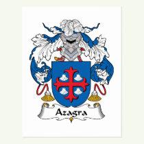 Azagra Family Crest Postcard