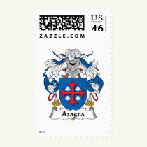 Azagra Family Crest Stamps