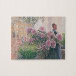 """Azalea, 1906 (w/c on paper) jigsaw puzzle<br><div class=""""desc"""">Image:113432  Azalea,  1906 (w/c on paper). Larsson,  Carl (1853-1919). Thiel Gallery,  Stockholm,  Sweden.  Art,  Fine Art.</div>"""