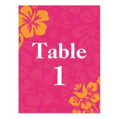 Azalea Beach Flowers Table Numbers Post Cards