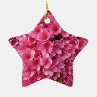 Azalea Coral Ceramic Ornament
