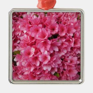Azalea Coral Metal Ornament