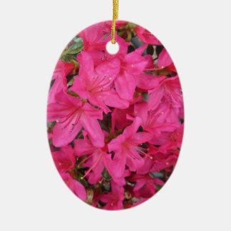 Azalea Dark Pink Ceramic Ornament