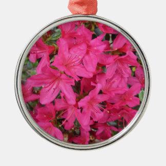 Azalea Dark Pink Metal Ornament