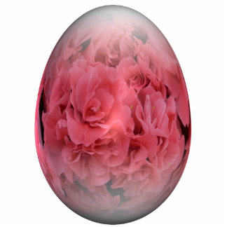 azalea feliz del huevo de Pascua Adorno Fotoescultura