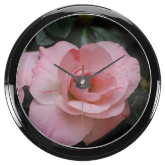 Azalea Flowers Aquarium Clocks