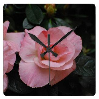 Azalea Flowers Square Wallclock