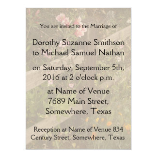 Azalea Flowers Floral Country Garden Wedding Card