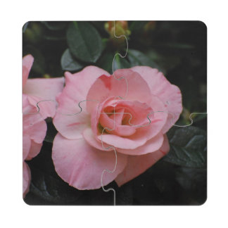 Azalea Flowers Puzzle Coaster