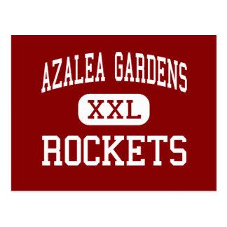 Azalea Gardens - Rockets - Middle - Norfolk Postcard