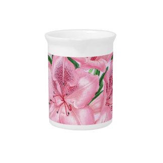 Azalea Pink Romance Beverage Pitcher