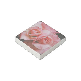 Azalea rosa clara imán de piedra
