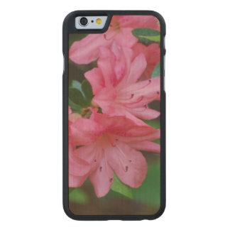 Azalea rosada funda de iPhone 6 carved® slim de arce