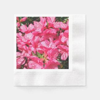 Azalea rosada servilletas de papel