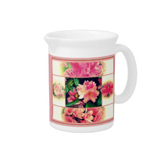 Azaleas 1950's Style Beverage Pitcher