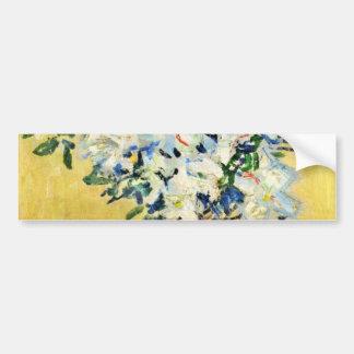 Azaleas blancas en un pote - Claude Monet Pegatina Para Auto