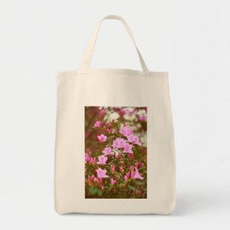 Azaleas blooming in springtime tote bag