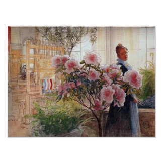 Azaleas by Carl Larsson Poster