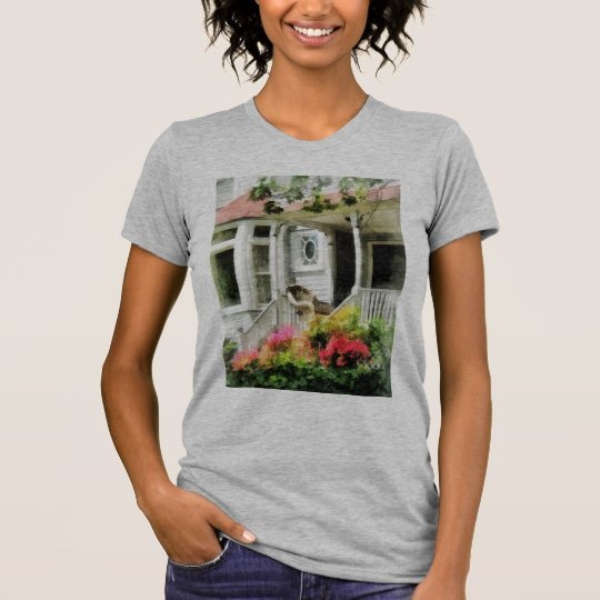 Azaleas by Porch With Wicker Chair T-Shirt
