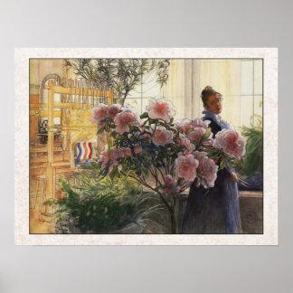 Azaleas de Carl Larsson Poster