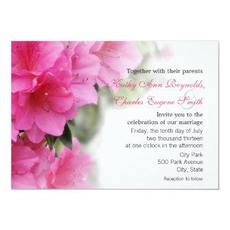 Azaleas de color rosa oscuro que se casan o invitación 12,7 x 17,8 cm
