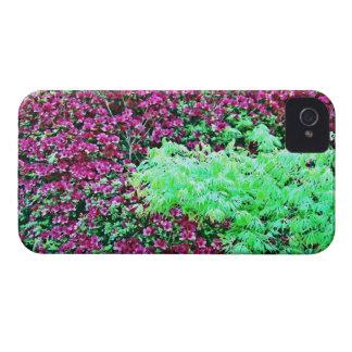 Azaleas de las rosas fuertes y el jardín de Monet  iPhone 4 Cobertura