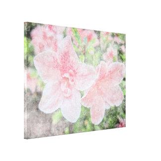 Azaleas descoloradas impresión en lienzo