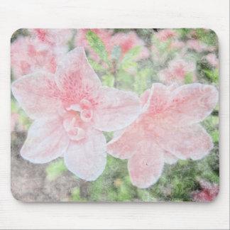 Azaleas descoloradas tapete de raton