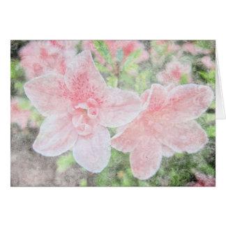 Azaleas descoloradas tarjeta de felicitación