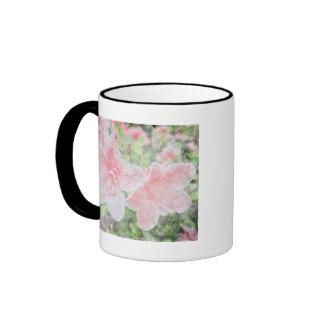 Azaleas descoloradas taza de café