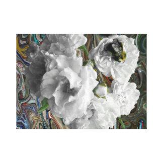 Azaleas en blanco impresion de lienzo