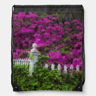 Azaleas en la primavera en la isla histórica de la mochila