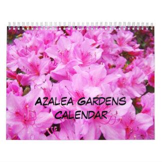 Azaleas Gardens Calendar Pink White Orange Azalea